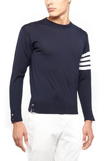 THOM BROWNE sweater with stripes on sleeves