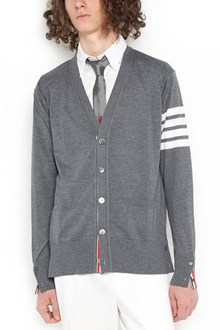 THOM BROWNE white stripes cardigan