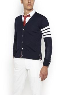 THOM BROWNE stripes on sleeves cardigan