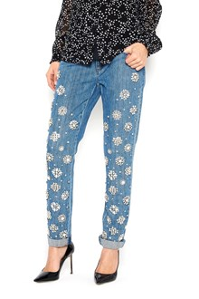 MICHAEL MICHAEL KORS crystal applications jeans