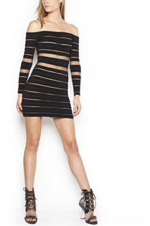 BALMAIN transparent bands dress
