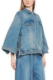 SACAI denim jacket with ruffles