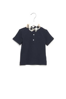 BURBERRY polo check collar