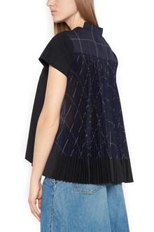 SACAI back pleated t-shirt
