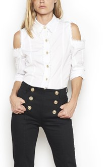 BALMAIN camicia spalle cut out