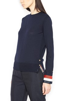 THOM BROWNE web cuffs sweater