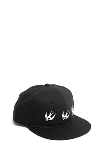 McQ ALEXANDER McQUEEN embroidered swallow cap