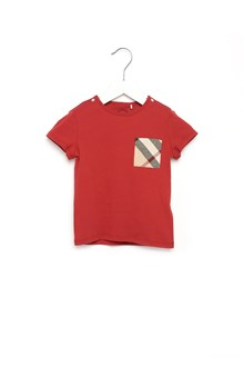 BURBERRY T-Shirt with check pocket