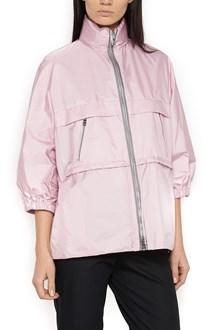 PRADA LINEA ROSSA waist coulisse k-way jacket