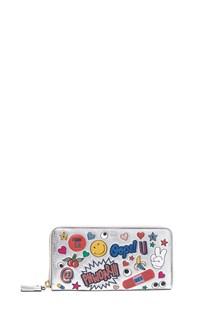 ANYA HINDMARCH portafoglio con stickers