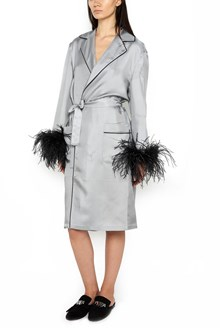 PRADA kimono with feathers cuffs