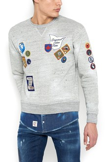 DSQUARED2 sweatshirt with under denim shirt