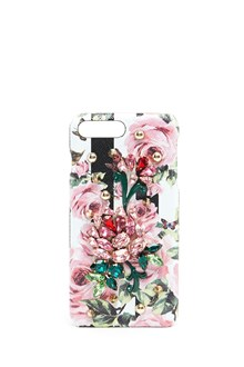 DOLCE & GABBANA printed i-phone 7 plus case with jewel applications