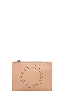 STELLA MCCARTNEY traforated logo clutch