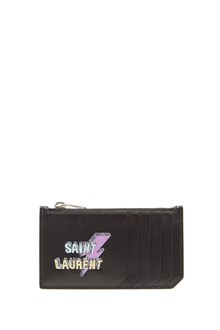 SAINT LAURENT logo thunder cardholder