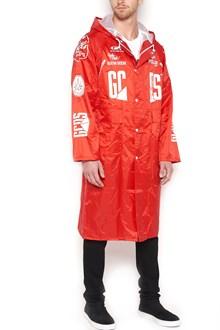 GCDS logo raincoat