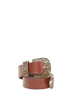 ALBERTA FERRETTI gold buckle belt