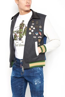 DSQUARED2 'teddy retro' bomber jacket