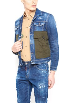 DSQUARED2 army patches jacket