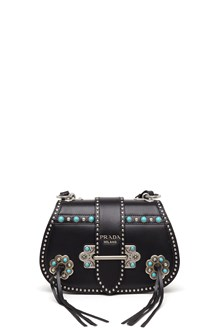 PRADA crossbody bag with Turquoise and studs