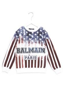 BALMAIN KIDS 'american flag' sweatshirt