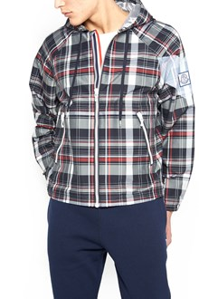 MONCLER GAMME BLEU check k-way jacket