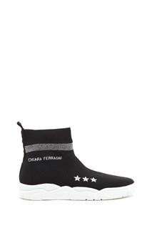 CHIARA FERRAGNI lurex socks sneakers