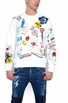 DSQUARED2 multi graffiti sweatshirt