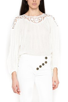 CHLOÉ embroidered collar blouse