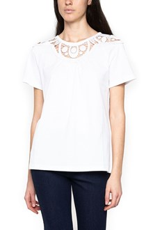 CHLOÉ embroidered collar t-shirt