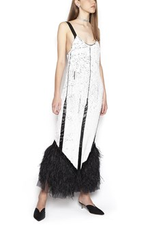 ATTICO sequins and feathers dress