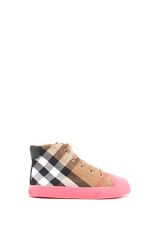 BURBERRY check sneakers