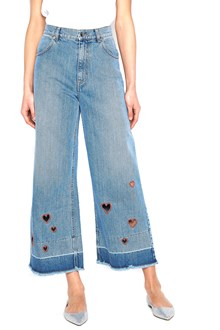 VIVETTA embroidered hearts jeans