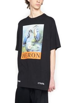 HERON PRESTON 'swan + logo' t-shirt