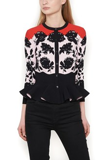 ALEXANDER MCQUEEN cardigan 'graphic border rose'