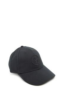 stone island logo patch cap
