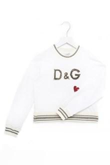 DOLCE & GABBANA sequins logo sweatshirt