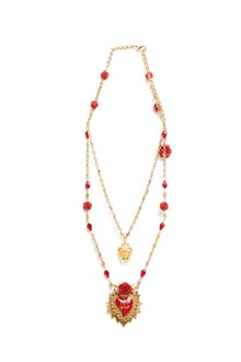 DOLCE & GABBANA crown and sacred heart necklace