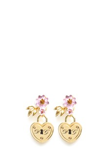 DOLCE & GABBANA lock and flower clip earring