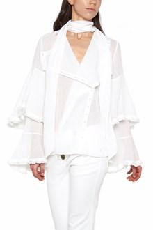 CHLOÉ ruffles sleeves shirt