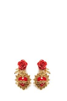 DOLCE & GABBANA sacred heart clip earrings
