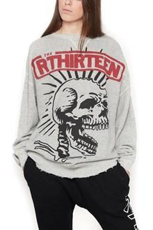 R13 'exploited punk outline' sweatshirt