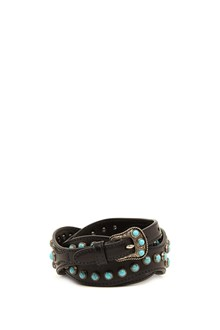 PRADA studs and turquoise belt