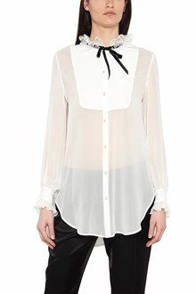 LANVIN lace collar shirt