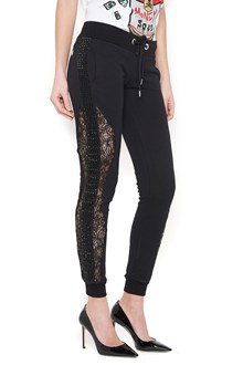 PHILIPP PLEIN strass & lace sweatpants