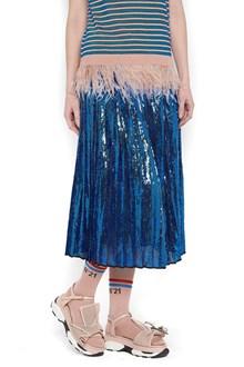 N°21 sequins pleated skirt