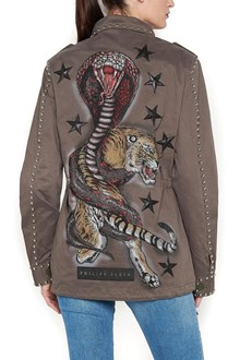 PHILIPP PLEIN studded and swarowsky parka jacket