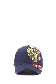 DSQUARED2 all over patch cap