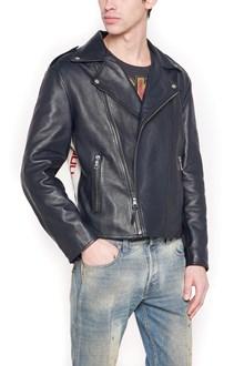 GUCCI logo leather jacket