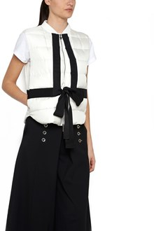 MONCLER GAMME ROUGE grosgrain tape vest